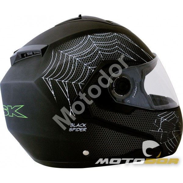 casque moto modulable black spider visiere solaire ksk motodor. Black Bedroom Furniture Sets. Home Design Ideas